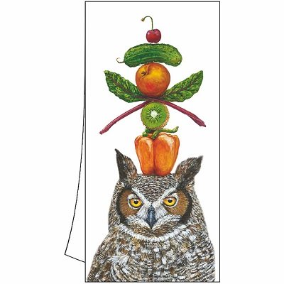 Vickie Sawyer What A Hoot Owl Kitchen Towel
