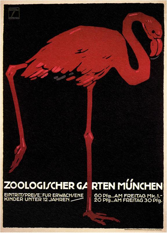 Zoologischer Garten 1912 Art Print Vintage Safari Tiger Poster 23.5x31.5