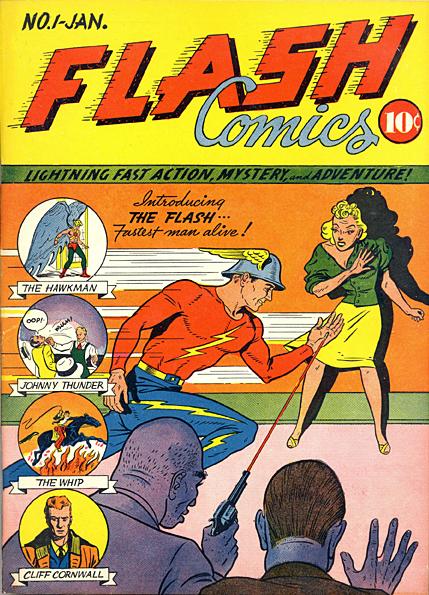 Flash Superhero Comic Book Cover Framed Wall Art