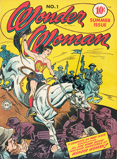Wonder Woman Vintage Superhero Comic Book Cover Framed — MUSEUM OUTLETS