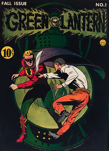 Green Lantern Vintage Superhero Comic Book Poster Framed Wall Art