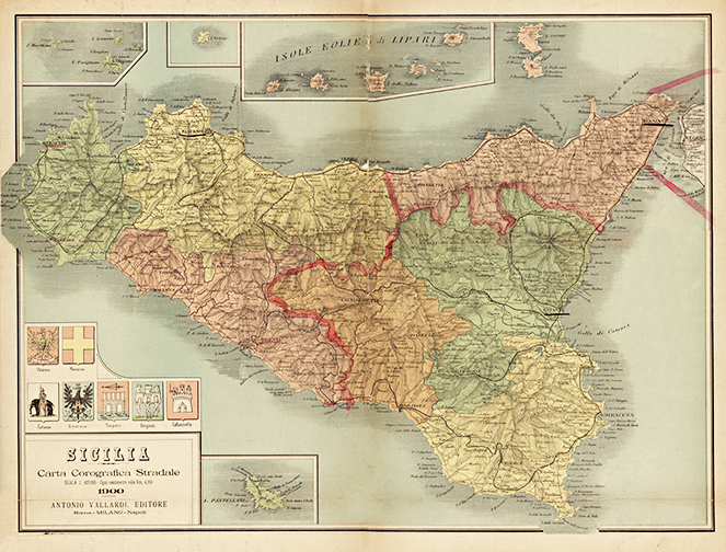 1900 Sicily Italy Antique Map — MUSEUM OUTLETS