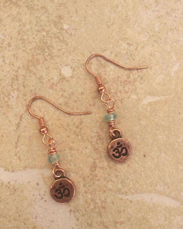 Ohm in Apatite earrings