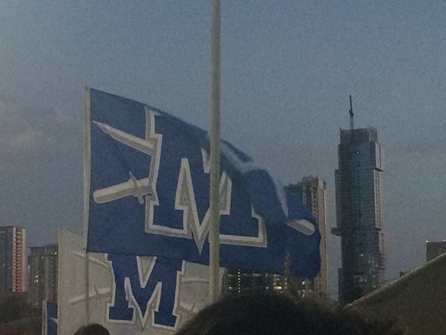 Way to go McCallum Knights! My daughter marched in he first football game and her high school won the game 21-20. Whoop!