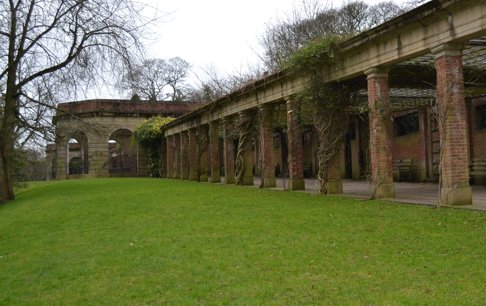 Colonnade and Sun Parlours in the Valley Gardens, Harrogate. 2015