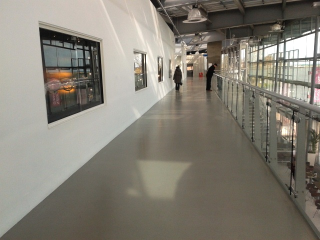 National Glass Centre long corridor. 2015