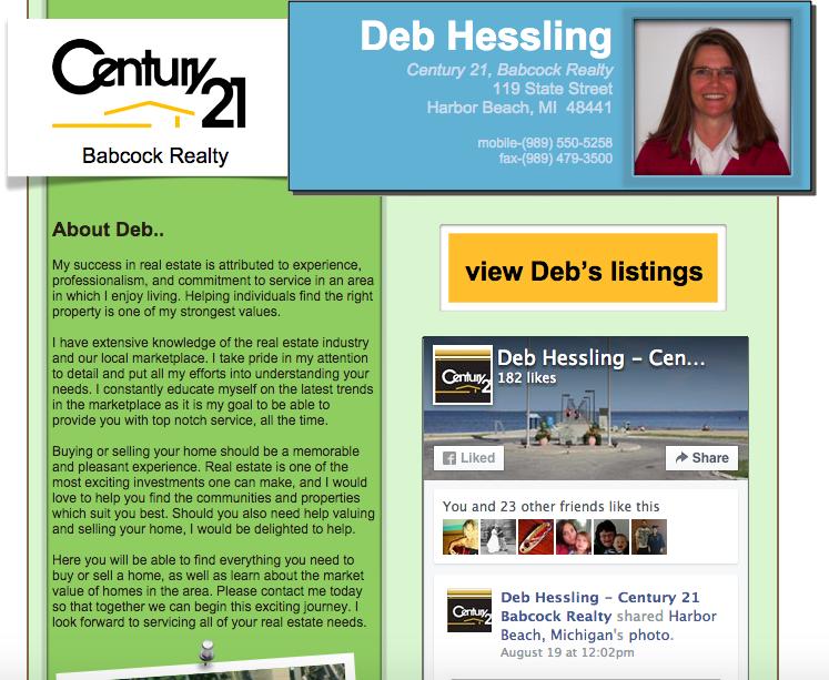 Deb Hessling Century 21 Website