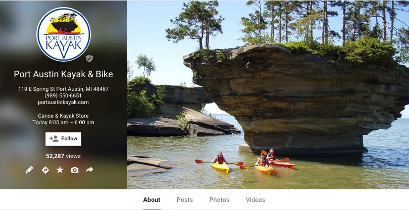 Port Austin Kayak Google My Business Setup