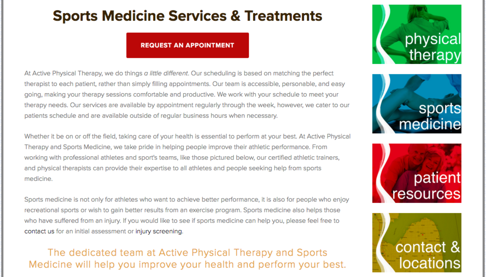 Active Physical Therapy and Sports Medicine - Content Example