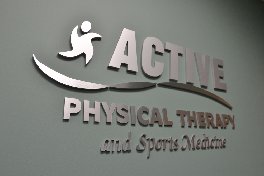 Active Physical Therapy and Sports Medicine Sign Photo