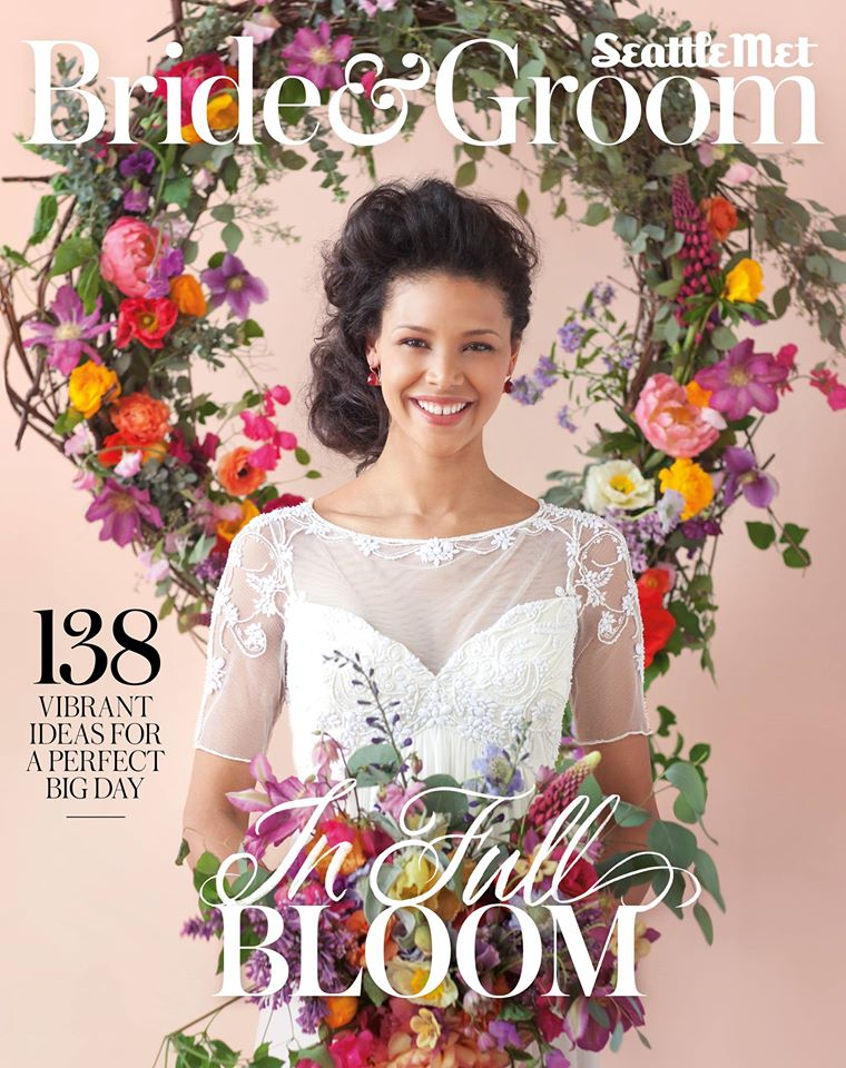 "Seattle Met Bride & Groom   –  Summer/Fall 2014 Issue,      "" Real Weddings:  Whitney White & Ryan Page """