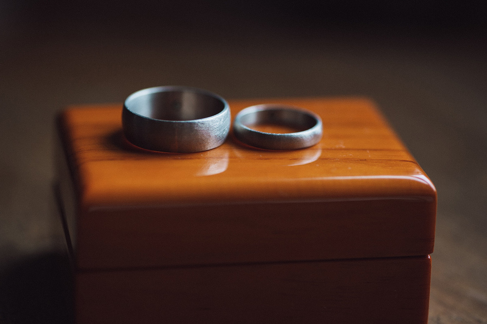 Portland Oregon Wedding, Handmade Bands