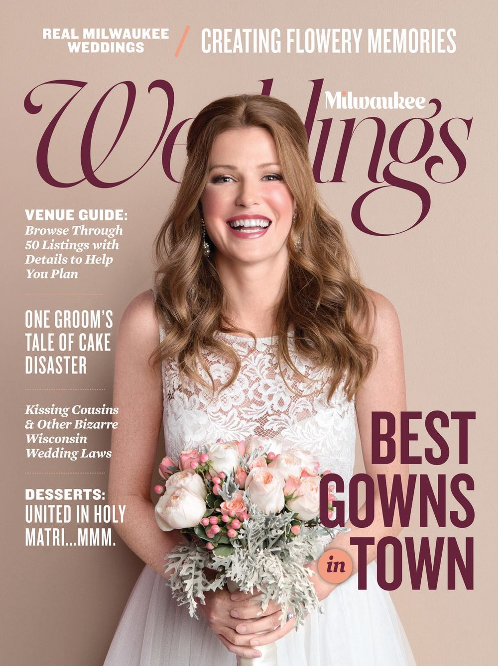 "MILWAUKEE WEDDINGS  – Winter 2016 Issue, "" Real Weddings:  Kathy & Danny's backyard"""