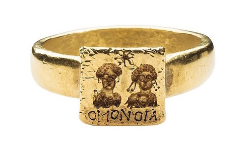 GOLD MARRIAGE RING Gold 6th 7th Century Byzantine Source Met