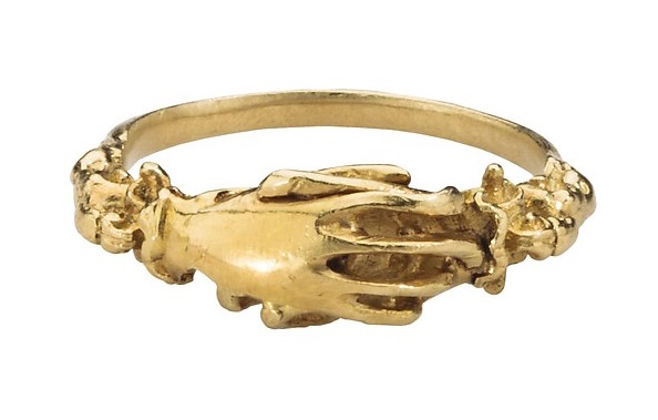Fede Ring in Gold, 16th century.  Source: Met Museum of Art