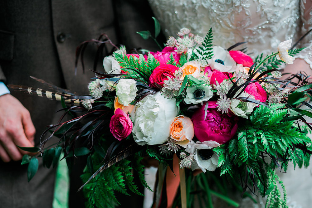 Bloomed Out  - Personalizing wedding floral design to match your personality and style.www.bloomedout.com | Photo c/o Skeleton Key Photography