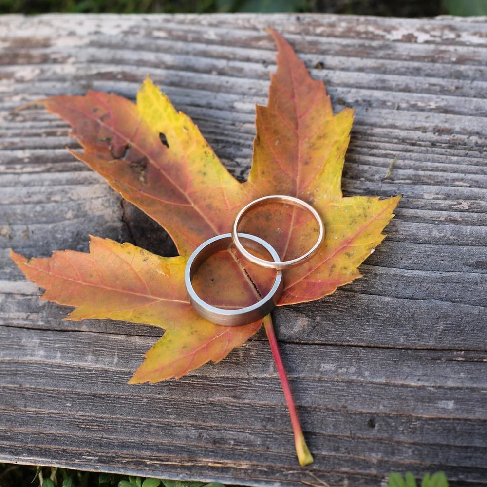 wedding rings, with these rings, port townsend