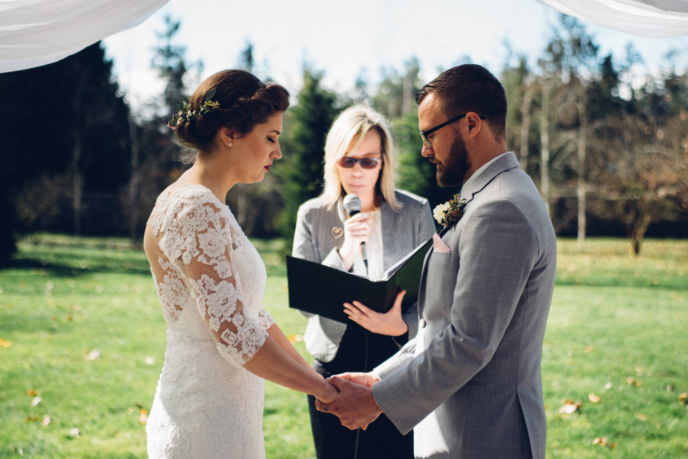 Couple: Nick & Kelly March 2017 Vow Renewal at Red Cedar Farm in Poulsbo. Photographer: Fyrelight Photography