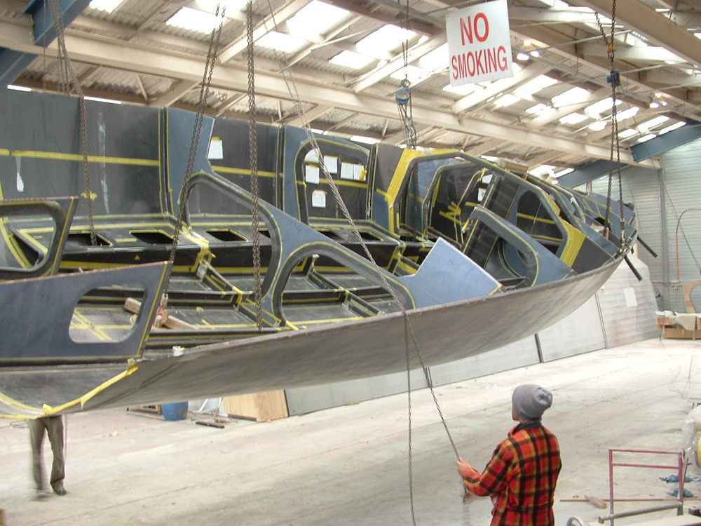 Humphreys 54' IRC under construction at Hakes Marine, Wellington, New Zealand
