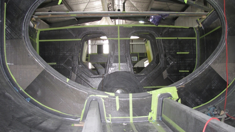 Volvo 70 Camper under construction