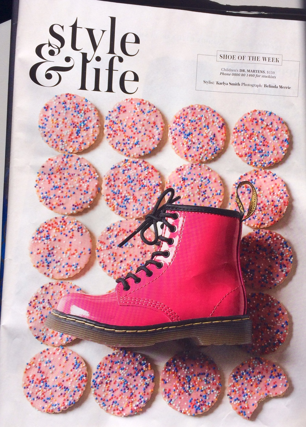 NZ HERALD PRODUCT PAGE PROMO FOR SHOE OF THE WEEK DR. MARTENS