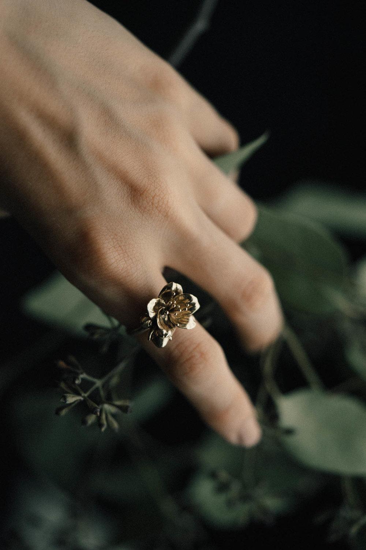 Petite Cherry Blossom Ring