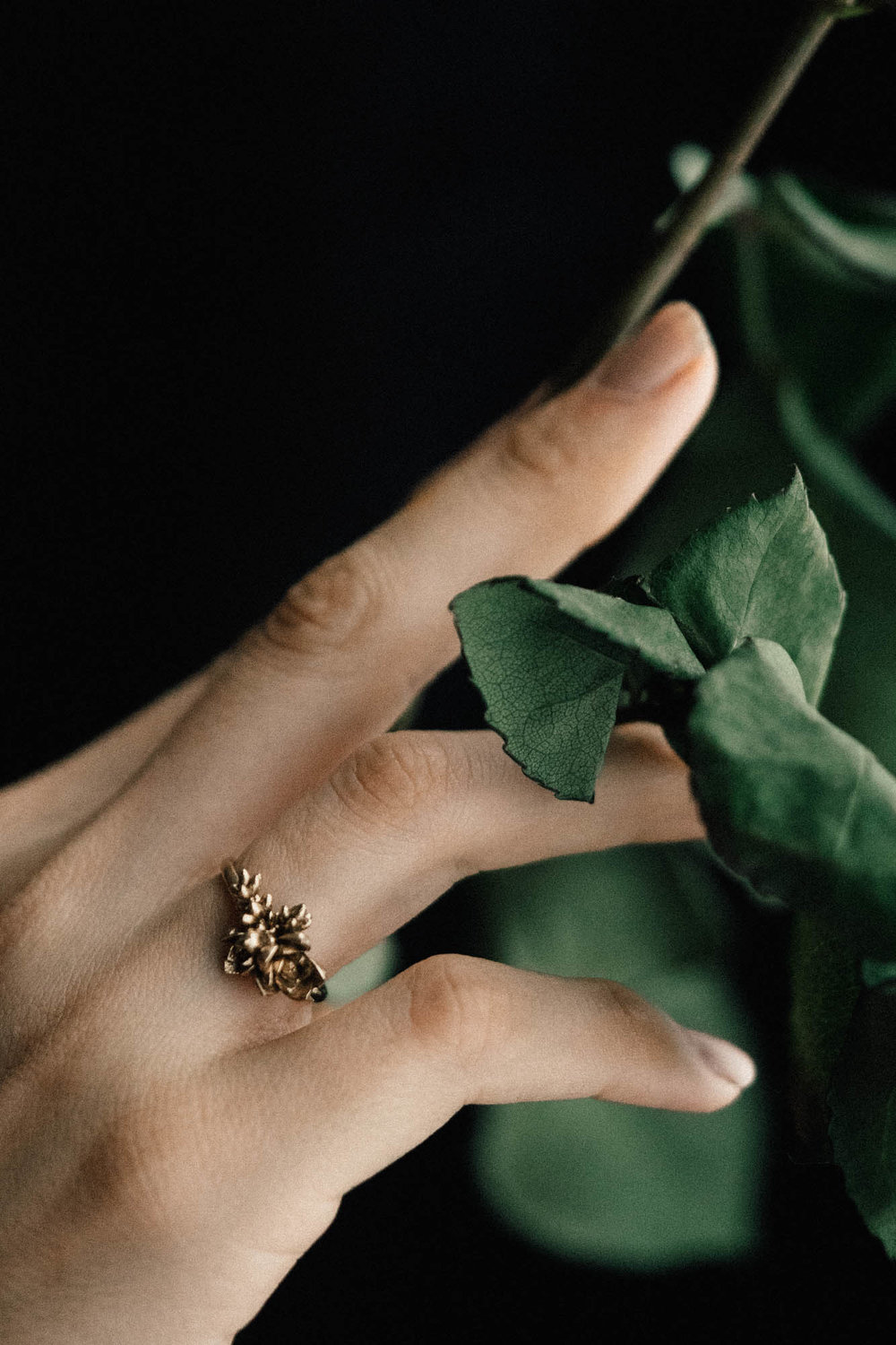 Botanical Cluster Ring