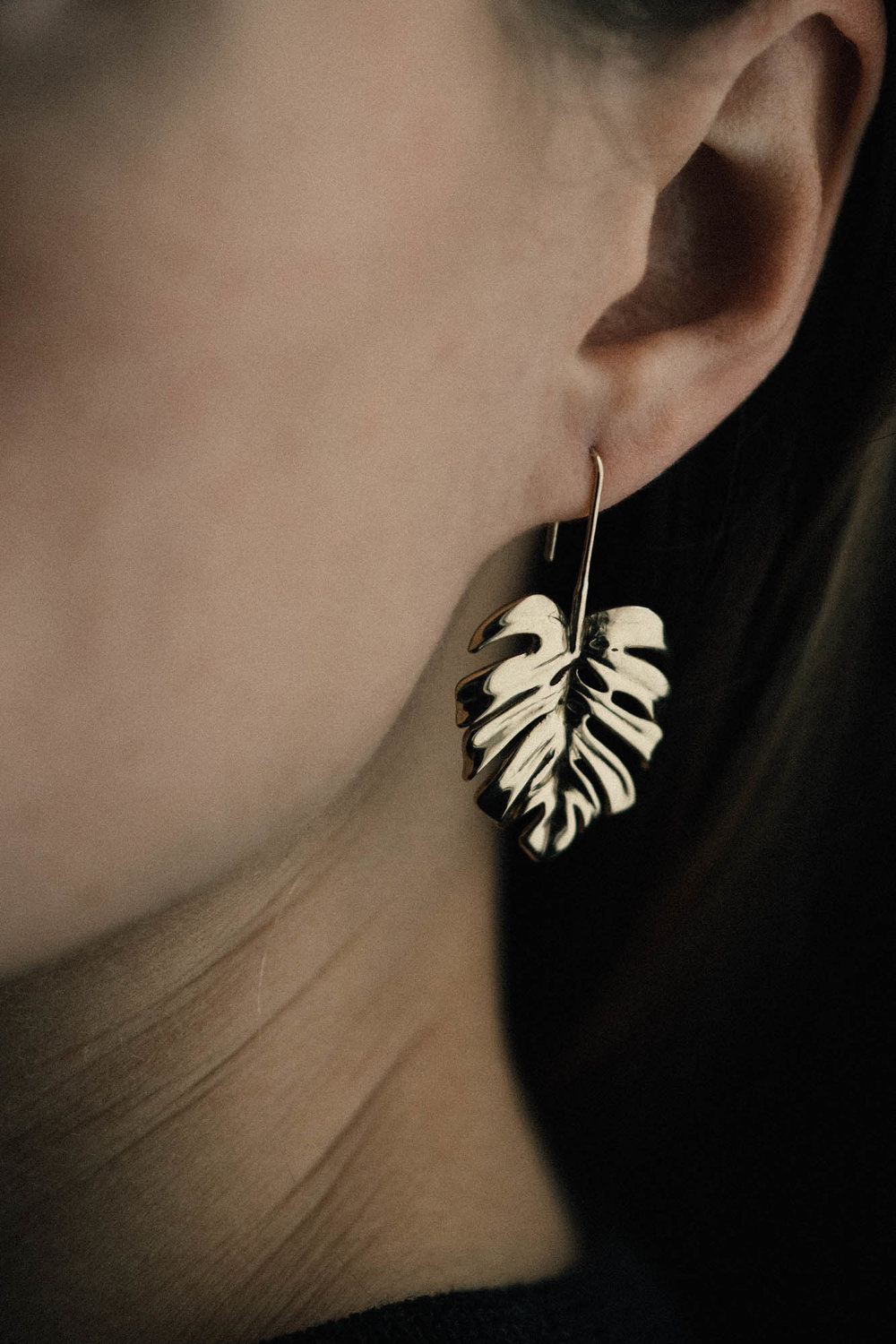 Monstera Drop Earring