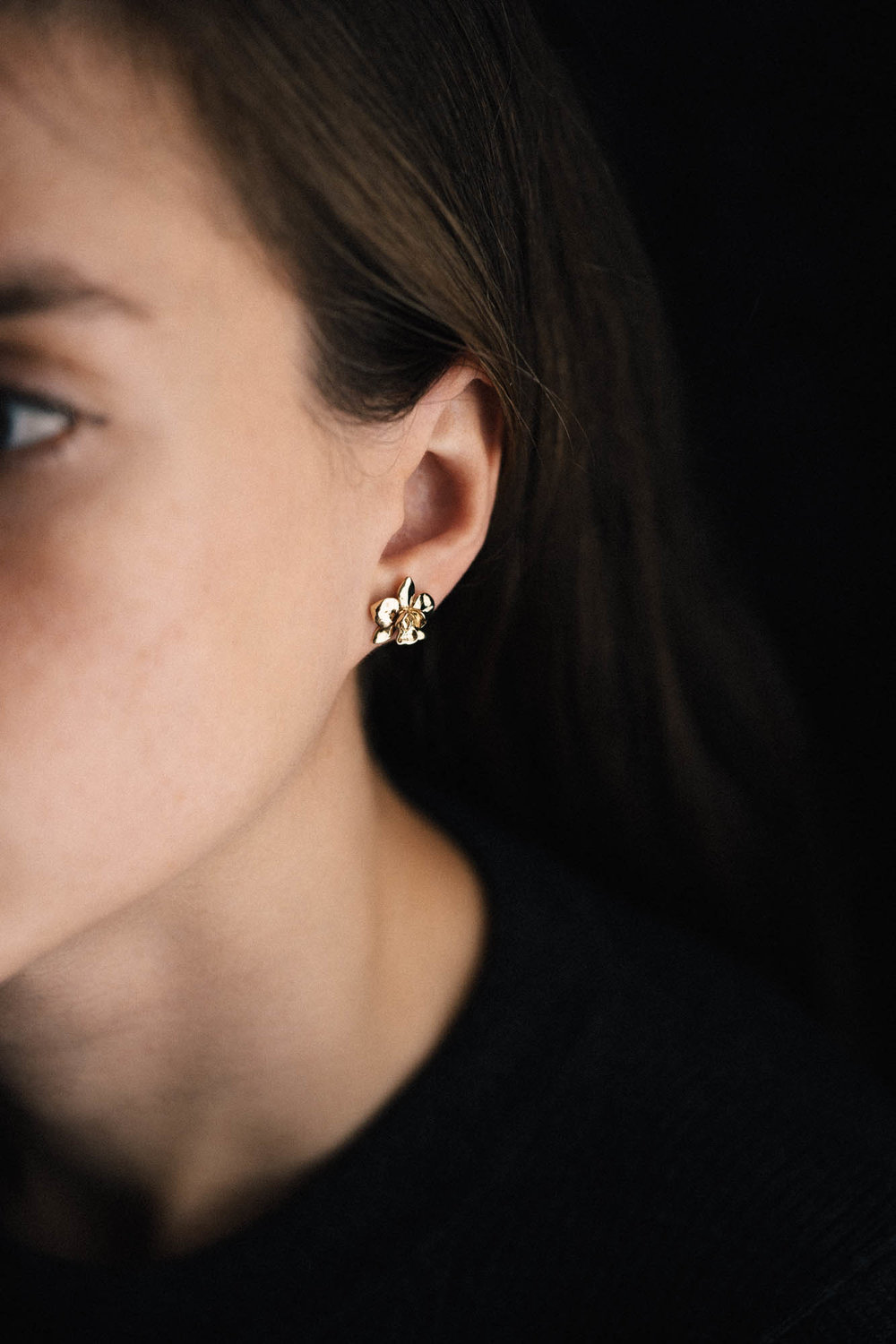 Petite Orchid Earring