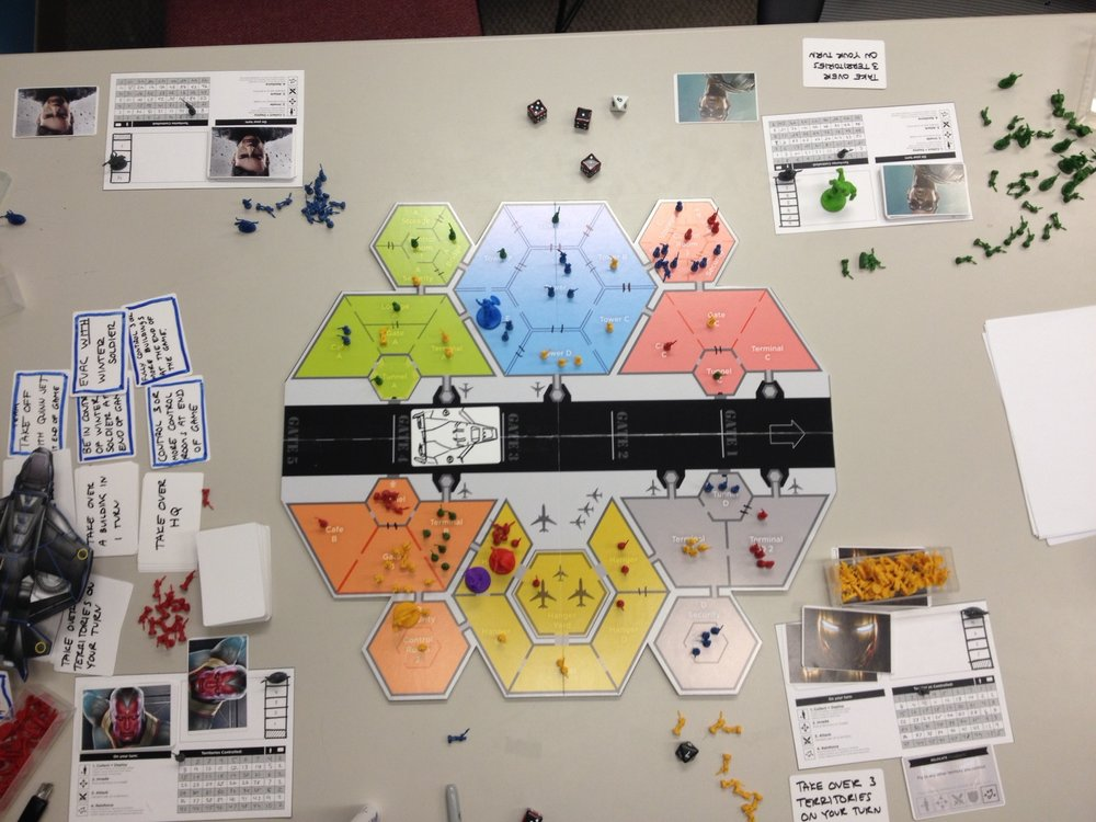 First playable prototype of finalized board layout