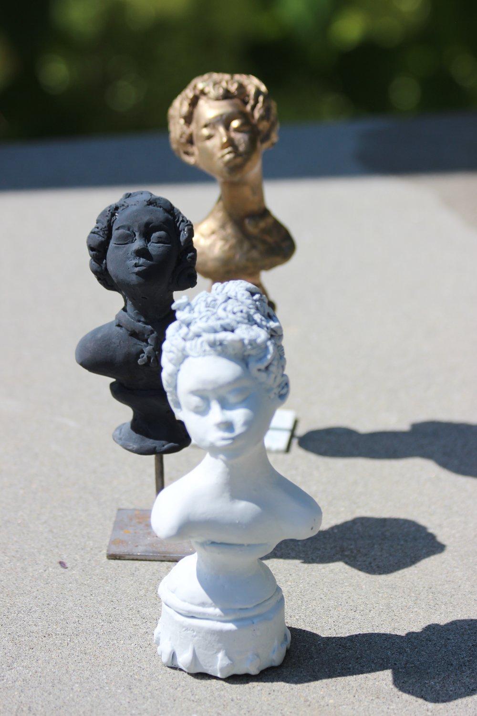 bronze portraits