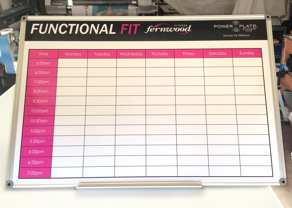 Fernwood Magnetic Timetable