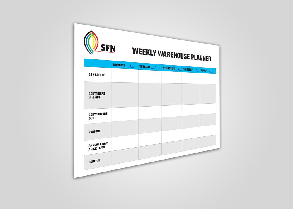 SFN Weekly Planner