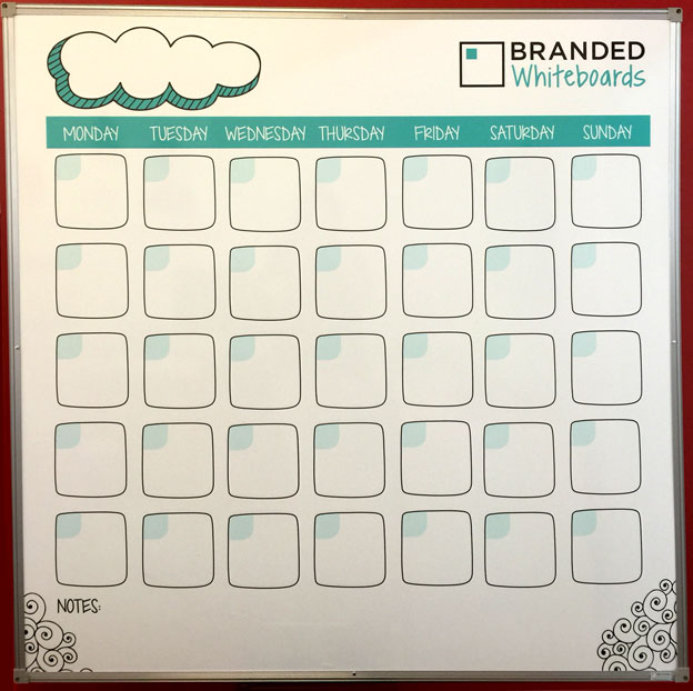 Branded Whiteboards Monthly Planner