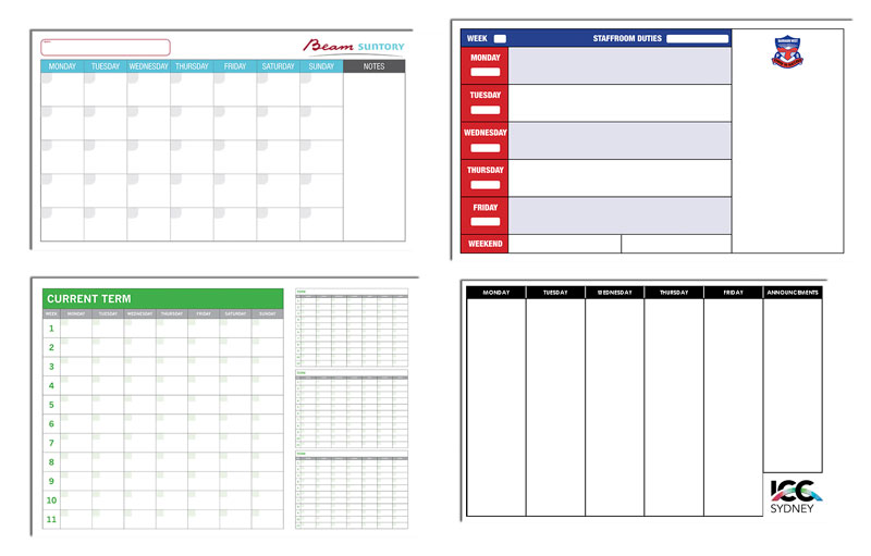 Custom Printed Whiteboard Planners