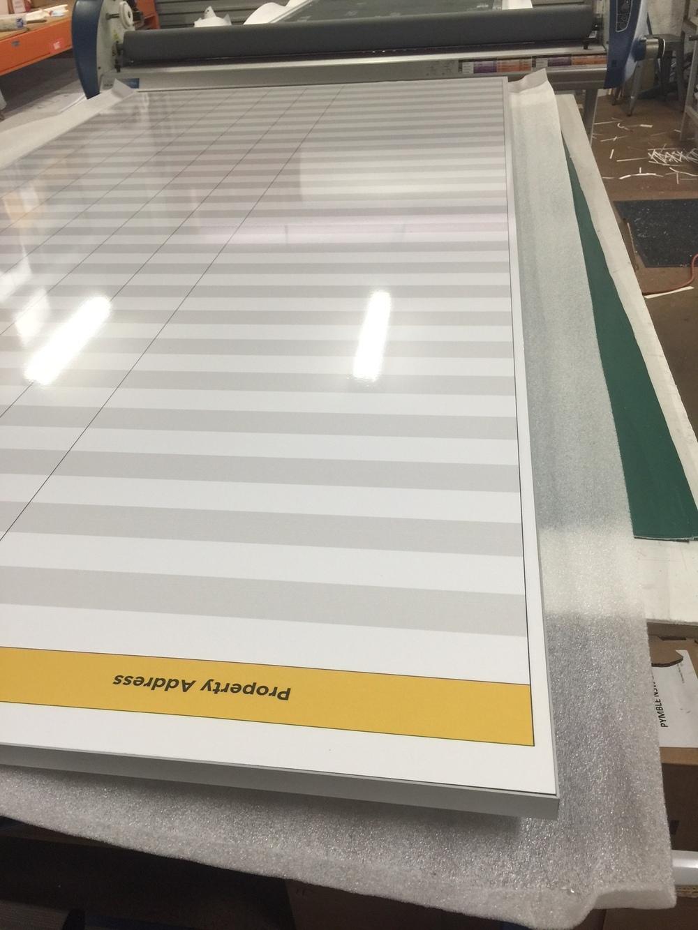 Custom Printed Branded Whiteboard - Archi-Edge Slimline frames