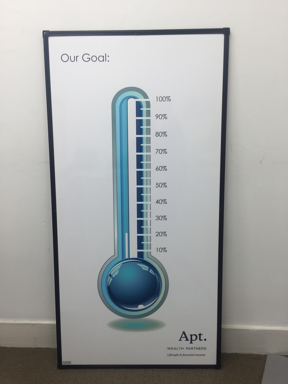 Charity Thermometer Whiteboard