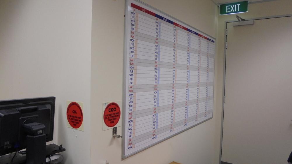 Perpetual Wall Calendar Whiteboard