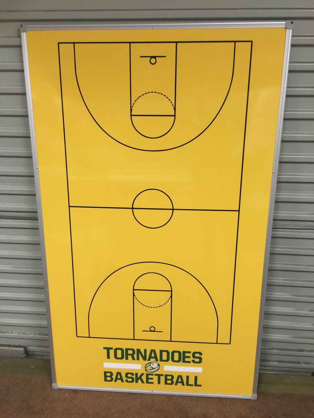 Tornadoes basketball Coaching Board