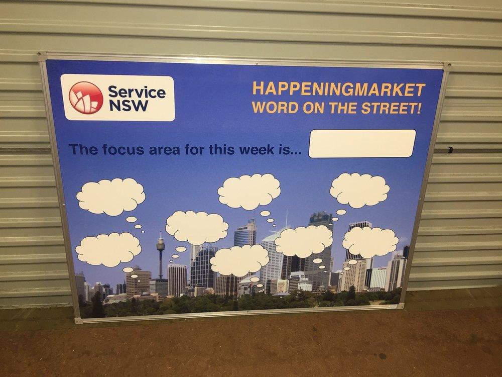 Service NSW Custom Whiteboard