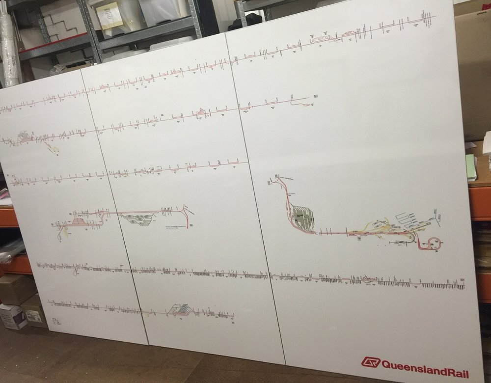 Queensland Rail Network Whiteboard Walls