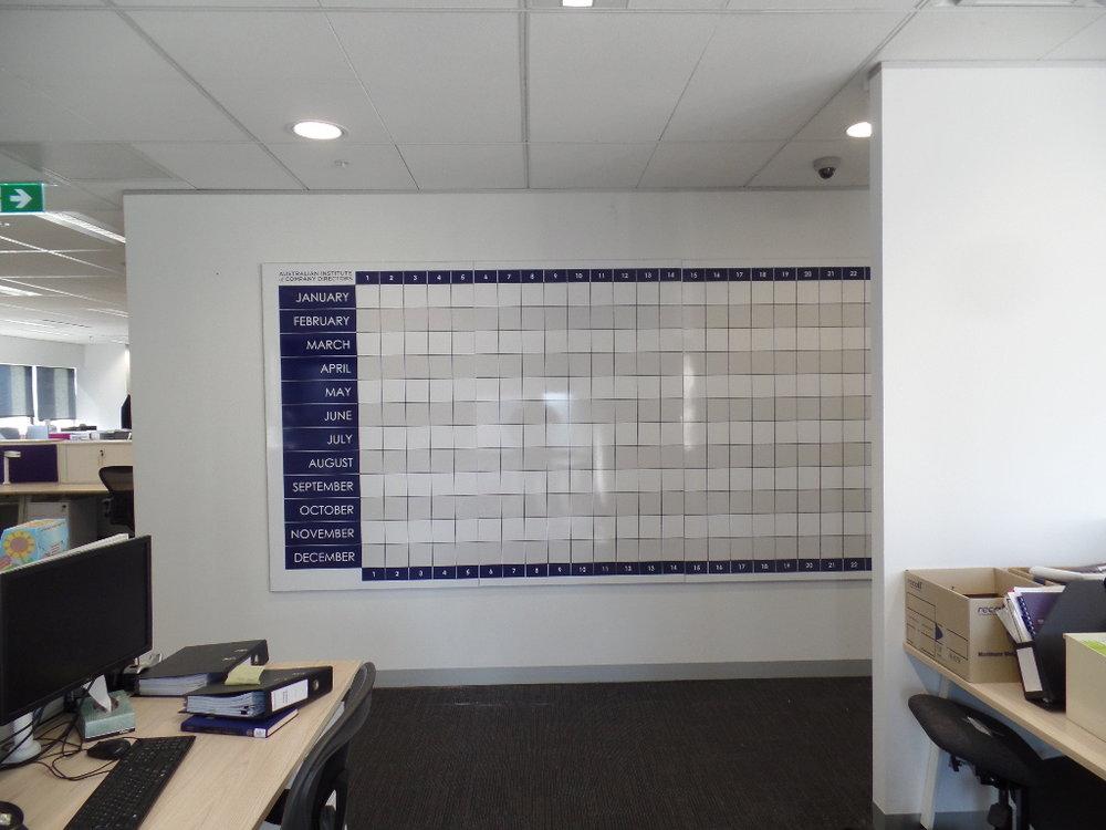 Perpetual Whiteboard Wall Calendar