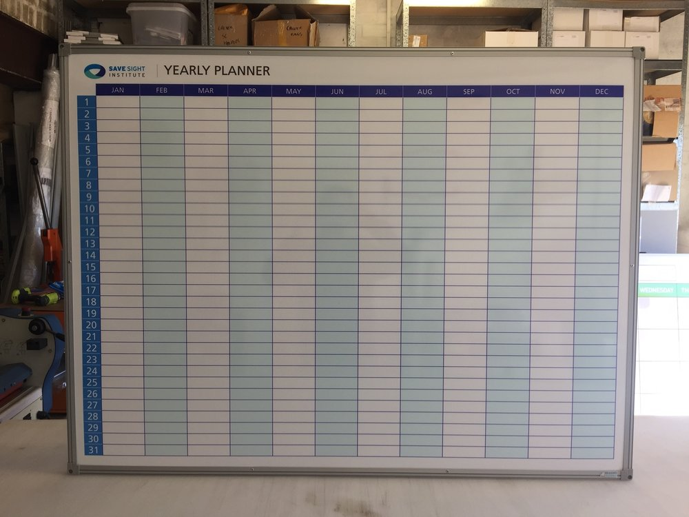 Perpetual Yearly Planner Whiteboard
