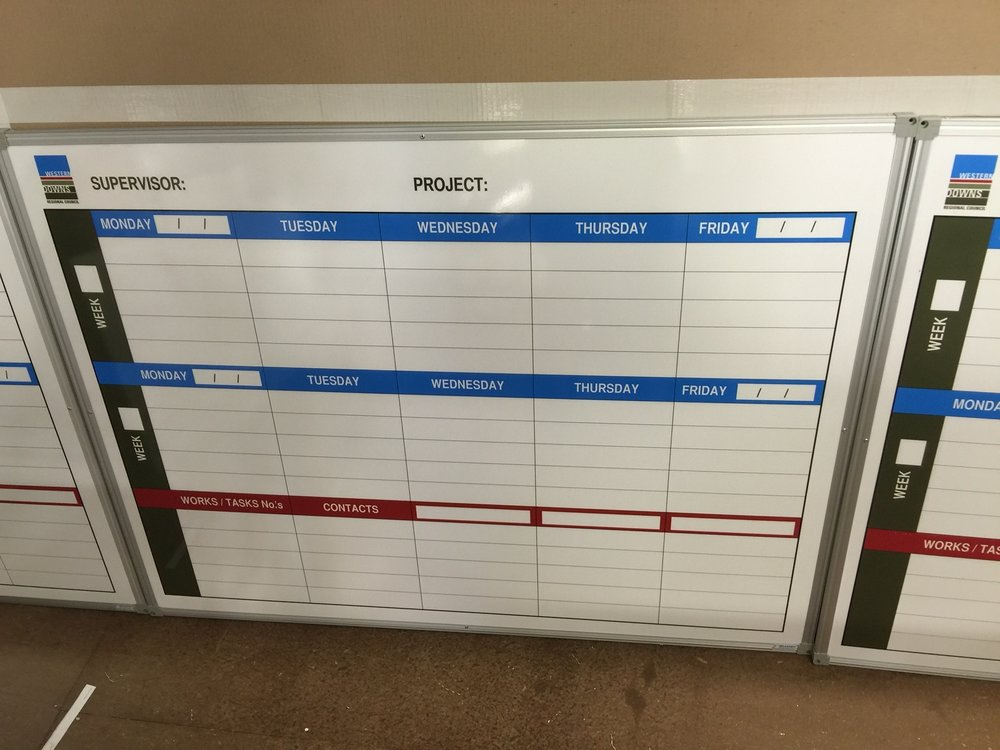 Council Project Planner Whiteboards - Custom Design