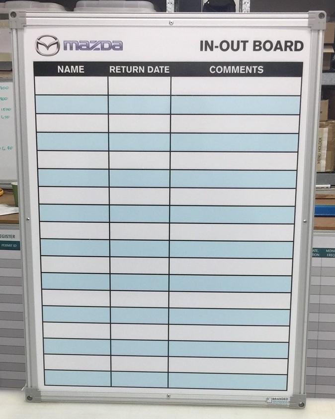 Mazda Australia IN-OUT Board