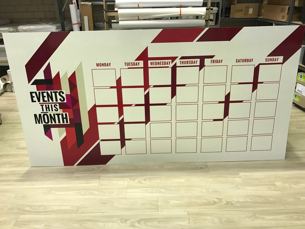 PVC Whiteboard Planner