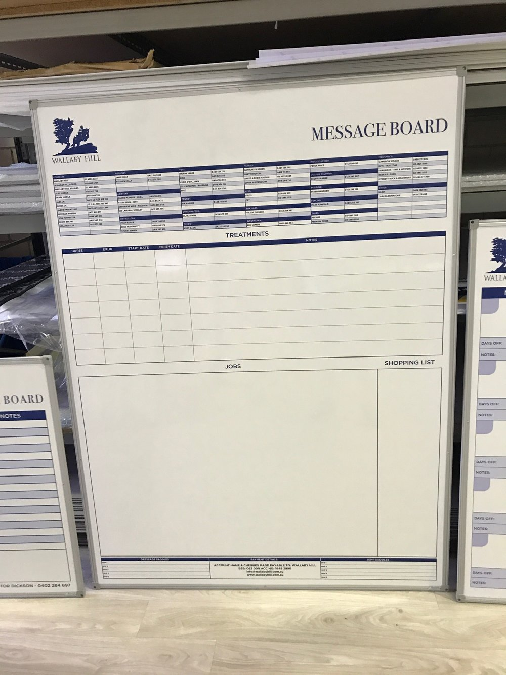Message Board Whiteboard