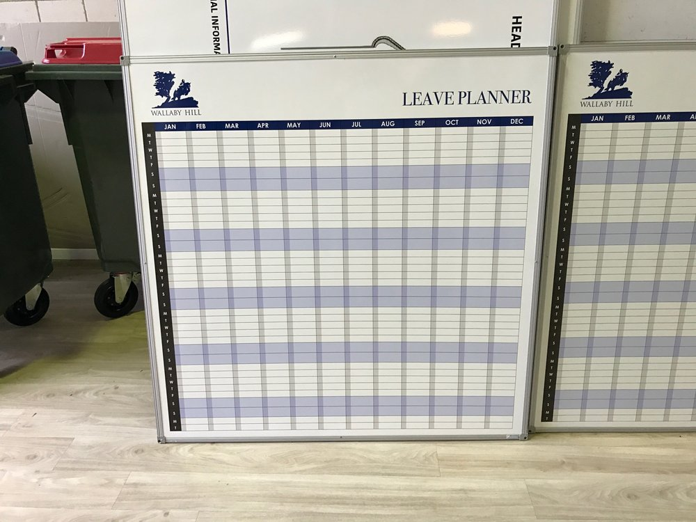 Leave Planner Whiteboard
