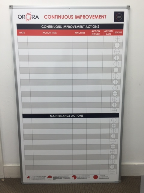 Orora Continuous Improvement Board