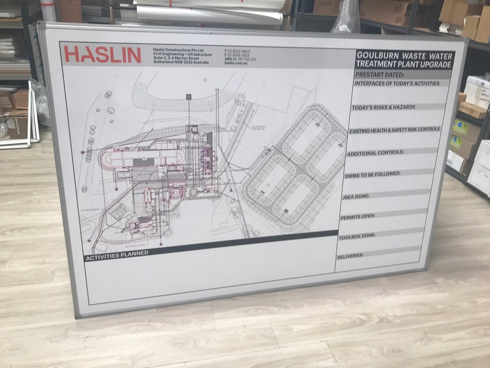 Haslin Plant Map Prestart Whiteboard